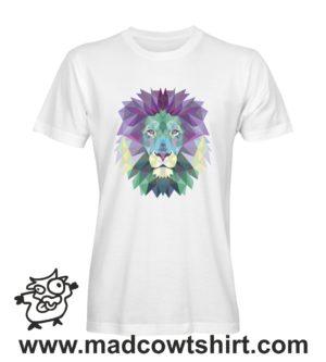 002 leone tshirt bianca uomo