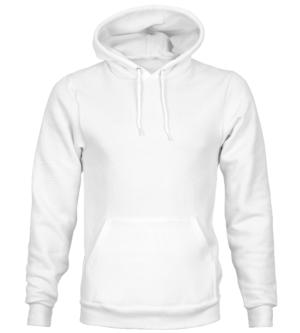felpa con cappuccio bianca personalizzabile