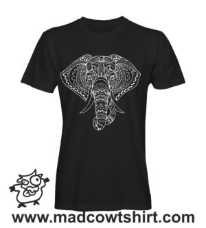 015 elefante tshirt nera uomo