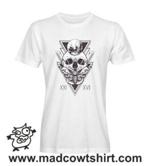 018 teschio2 tshirt bianca uomo