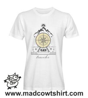 032 traveler tshirt bianca uomo