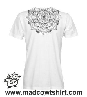 038 mandala tshirt bianca uomo