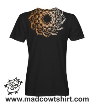 039 mandala 2 tshirt nera uomo