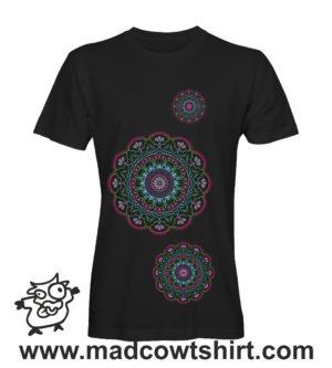 041 tre mandala tshirt nera uomo