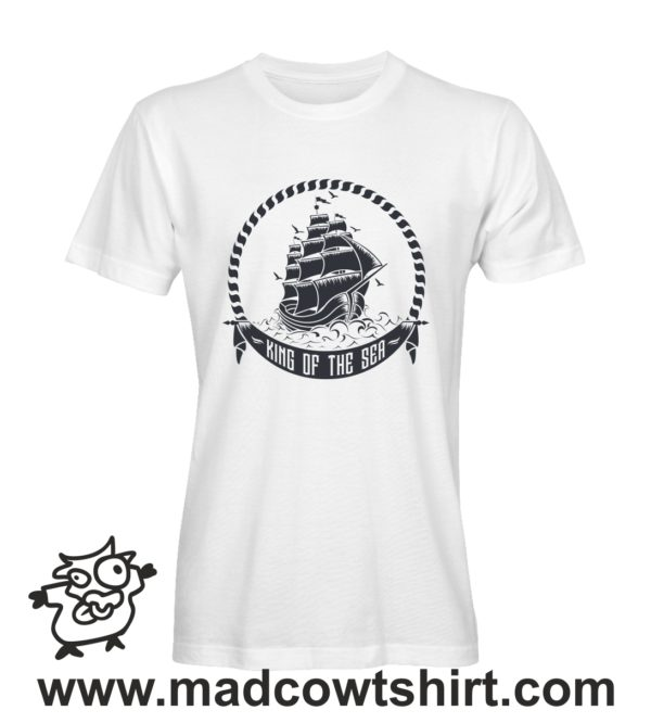 046 ship tshirt bianca uomo