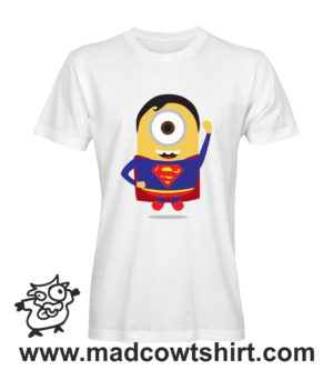 052 super minions tshirt bianca uomo