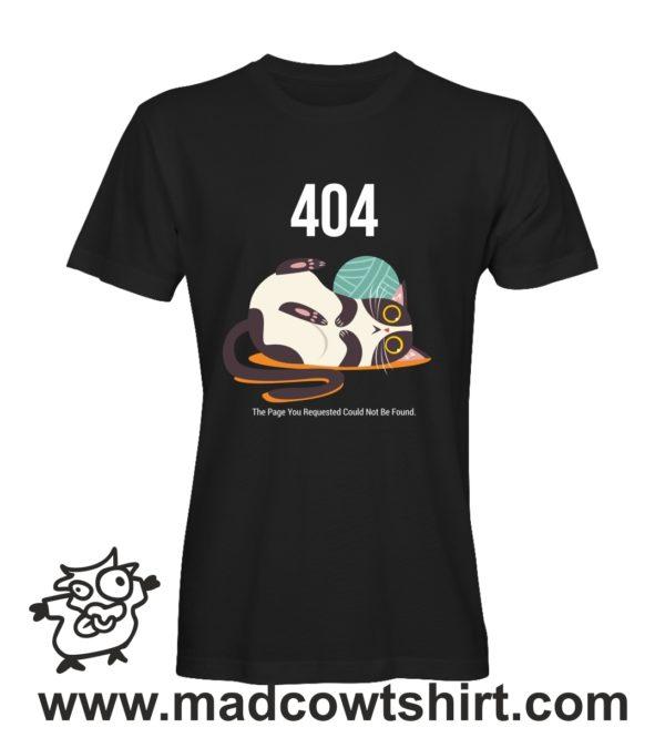 053 cat 404 tshirt nera uomo