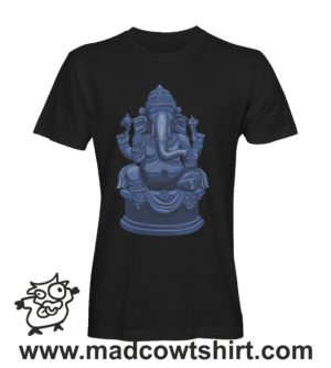 068 ganesha tshirt nera uomo