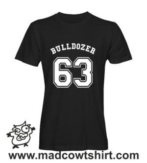 070 bulldozer tshirt nera uomo