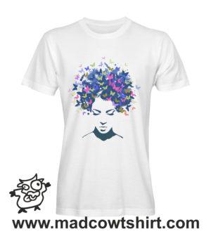 075 farfalle hair tshirt bianca uomo