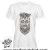 079 teschio hipster tshirt bianca uomo