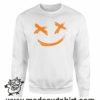 130 smile face x emoji FELPA bianca