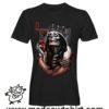 0170 skull queen tshirt nera uomo