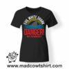 0174 danger shark tshirt nera donna
