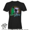 0176 hawaii surfing tshirt nera uomo