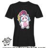 0182 cry unicorn tshirt nera uomo