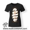 0186 live skate tshirt nera donna