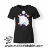 0190 angry bear tshirt nera donna
