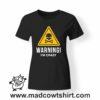 0193 warning crazy tshirt nera donna