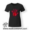 0194 blood hand tshirt nera donna