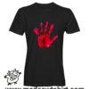 0194 blood hand tshirt nera uomo