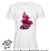0195 red ink tshirt bianca uomo