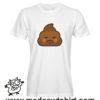 0197 angry poop tshirt bianca uomo