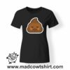 0197 angry poop tshirt nera donna