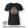 0198 cool poop tshirt nera donna