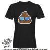0198 cool poop tshirt nera uomo