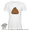 0199 happy poop tshirt bianca uomo