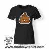 0199 happy poop tshirt nera donna