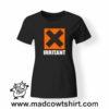 0204 irritant tshirt nera donna