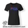 0210 figa tshirt nera donna