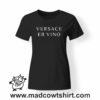 0211 versace er vino tshirt nera donna