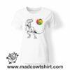 0215 trex tshirt bianca donna