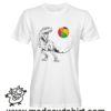 0215 trex tshirt bianca uomo