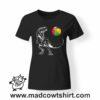 0215 trex tshirt nera donna