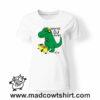 0221 trex dj tshirt bianca donna