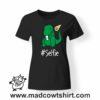 0222 trex selfie tshirt nera donna