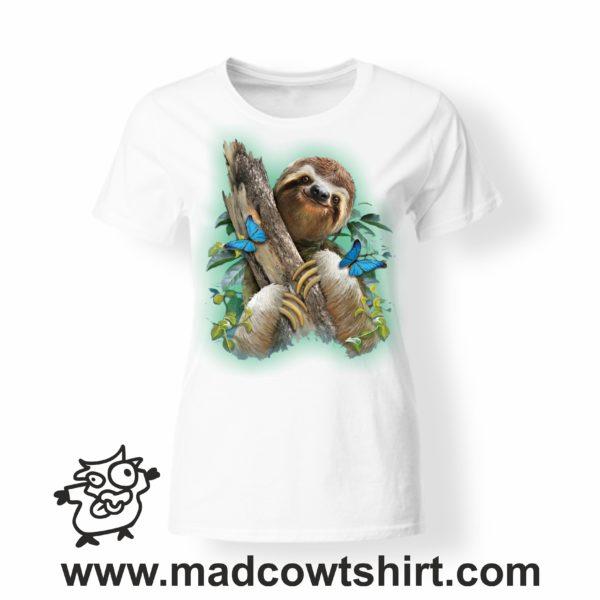 000224 smile sloth T-shirt Uomo Donna Bambino 3