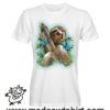 000225 pizza sloth T-shirt Uomo Donna Bambino 7