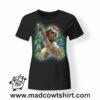 0224 smile sloth tshirt nera donna