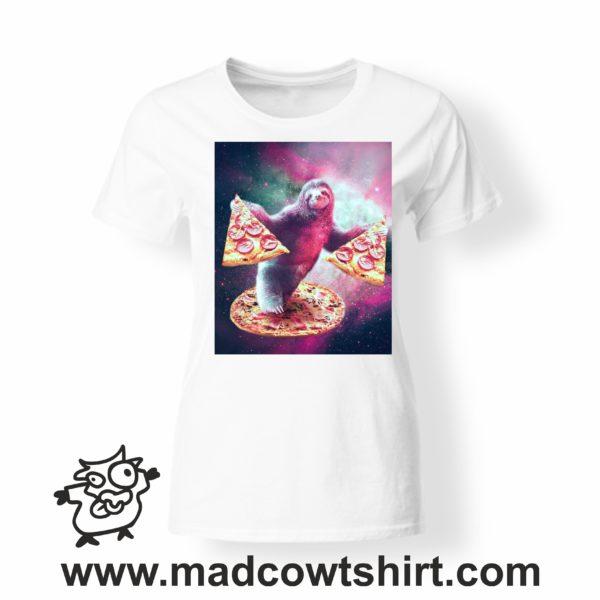 000225 pizza sloth T-shirt Uomo Donna Bambino 4