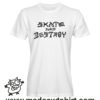 0227 skate and destroy tshirt bianca uomo
