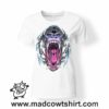 0228 angry gorilla tshirt bianca donna
