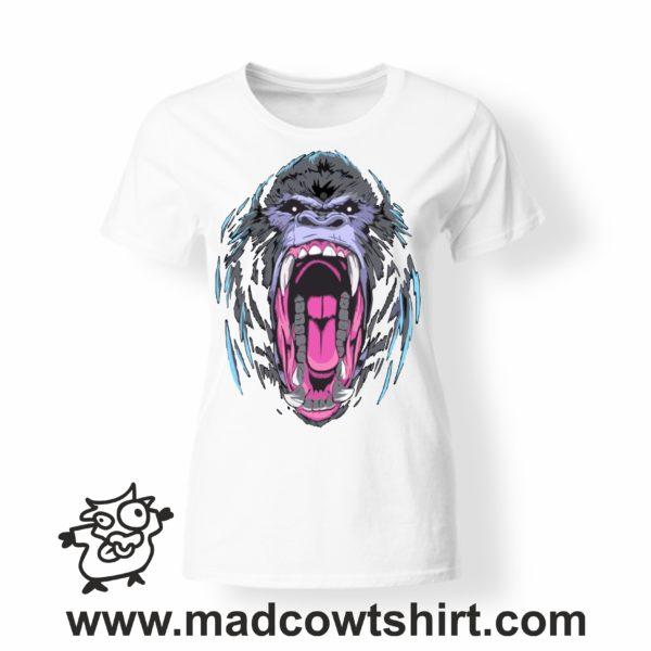 000228 angry gorilla T-shirt Uomo Donna Bambino 3