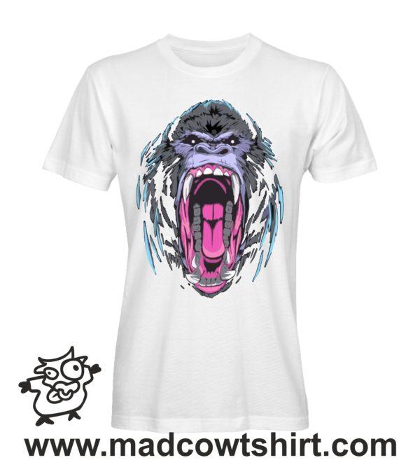 000228 angry gorilla T-shirt Uomo Donna Bambino 1