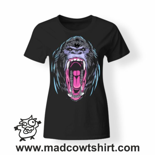 000228 angry gorilla T-shirt Uomo Donna Bambino 4