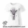 0229 mandala giraffe tshirt bianca donna